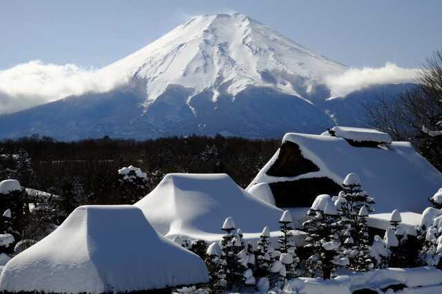 pemandangan Fujiyama Salju