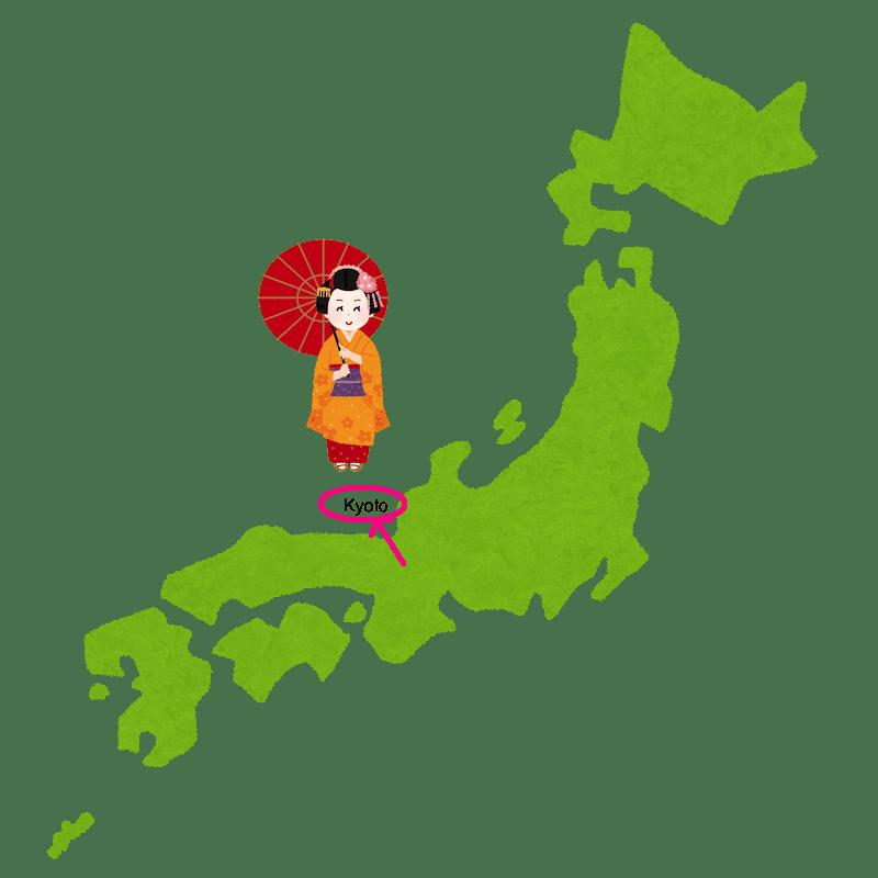 peta Jepang Lokasi Kyoto