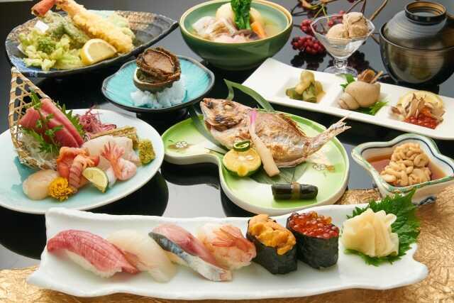 makanan susi di jepang kaiseki