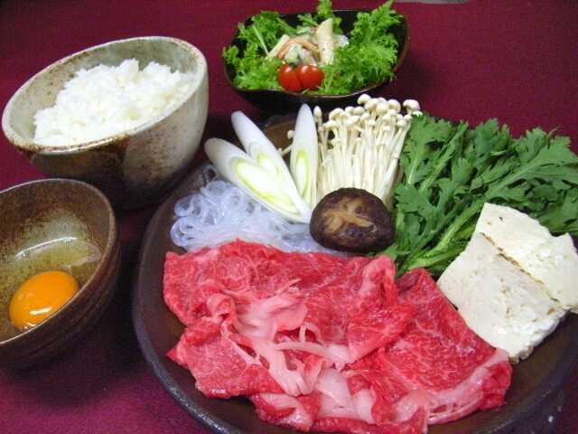 wasyoku bahan sukiyaki